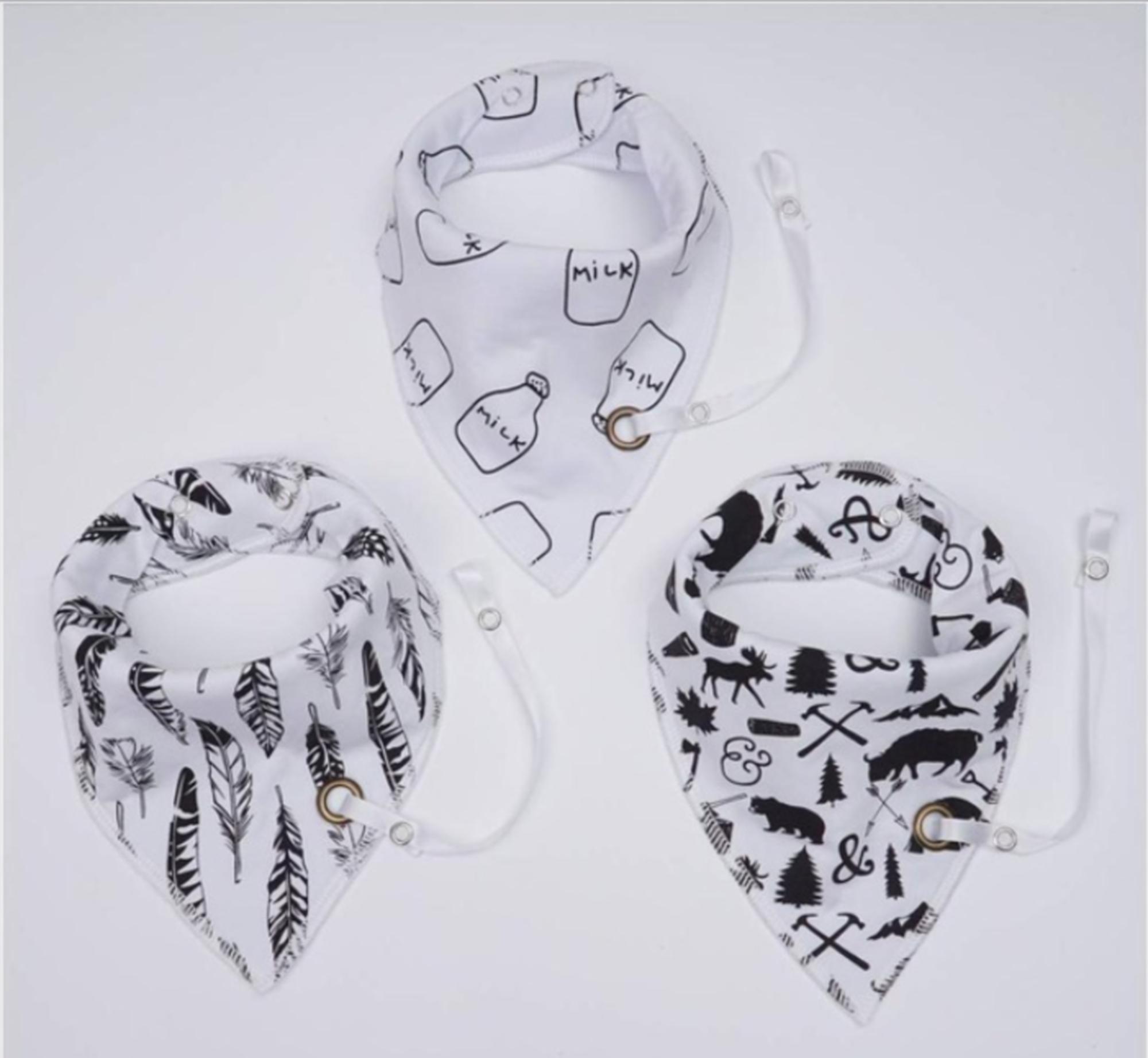 Baby Halstücher mit Schnullerband Multipack | Stückzahl 3